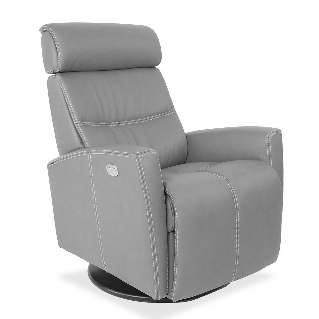 motorized leather recliner