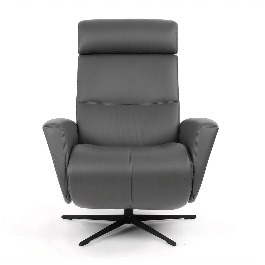 leather recliner with star base