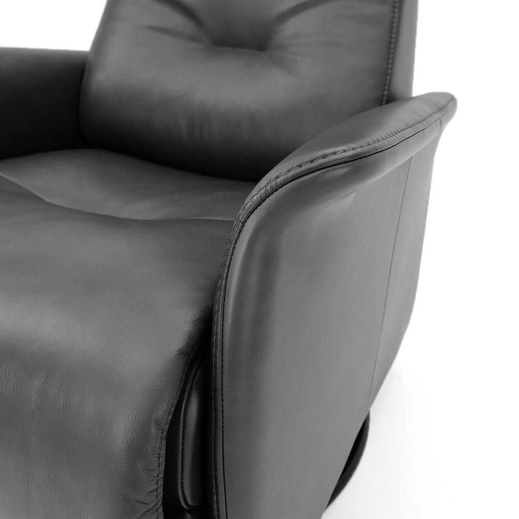 grey leather recliner