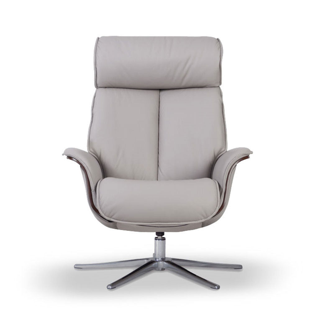 Space 5400 Recliner and Ottoman Cinder