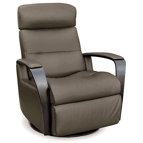 leather recliner with swivel base