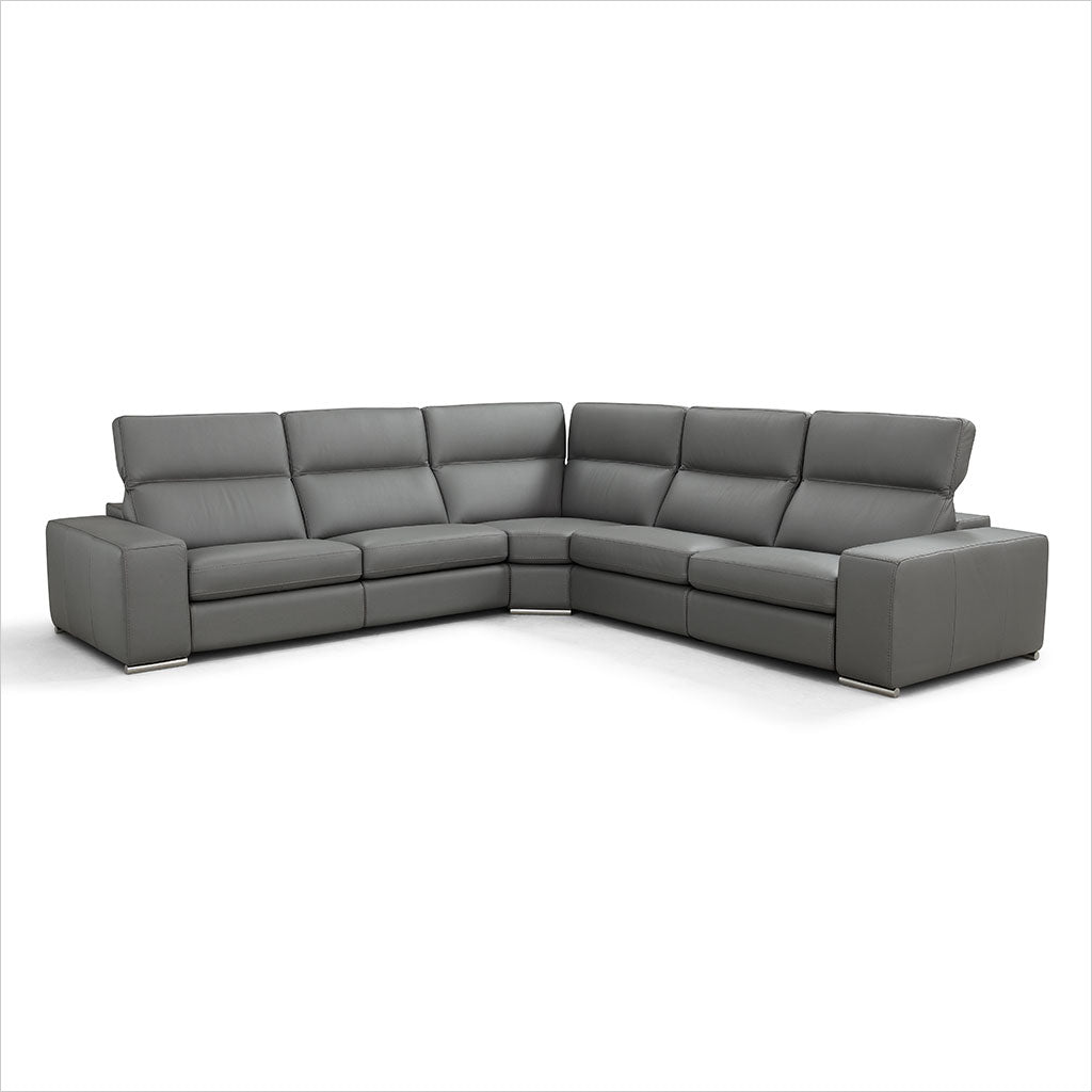 grey leather sectional