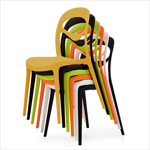 orange outdoor dining chair