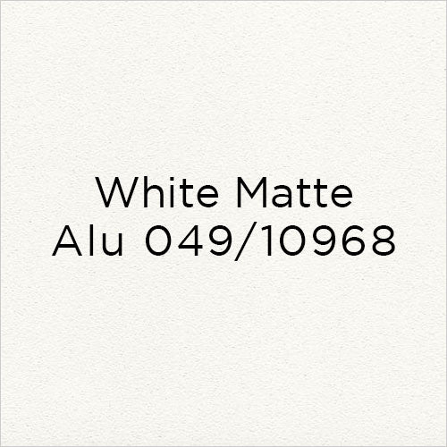 white matte alu metal swatch