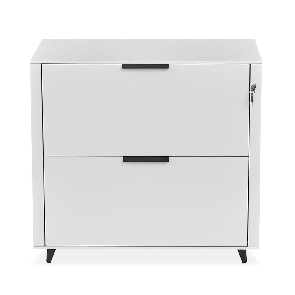 lateral file in white