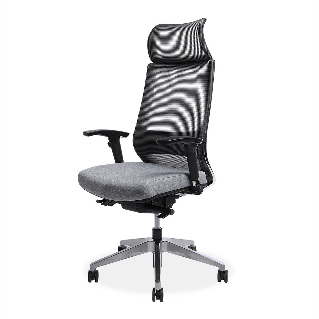 grey mesh high back office chair