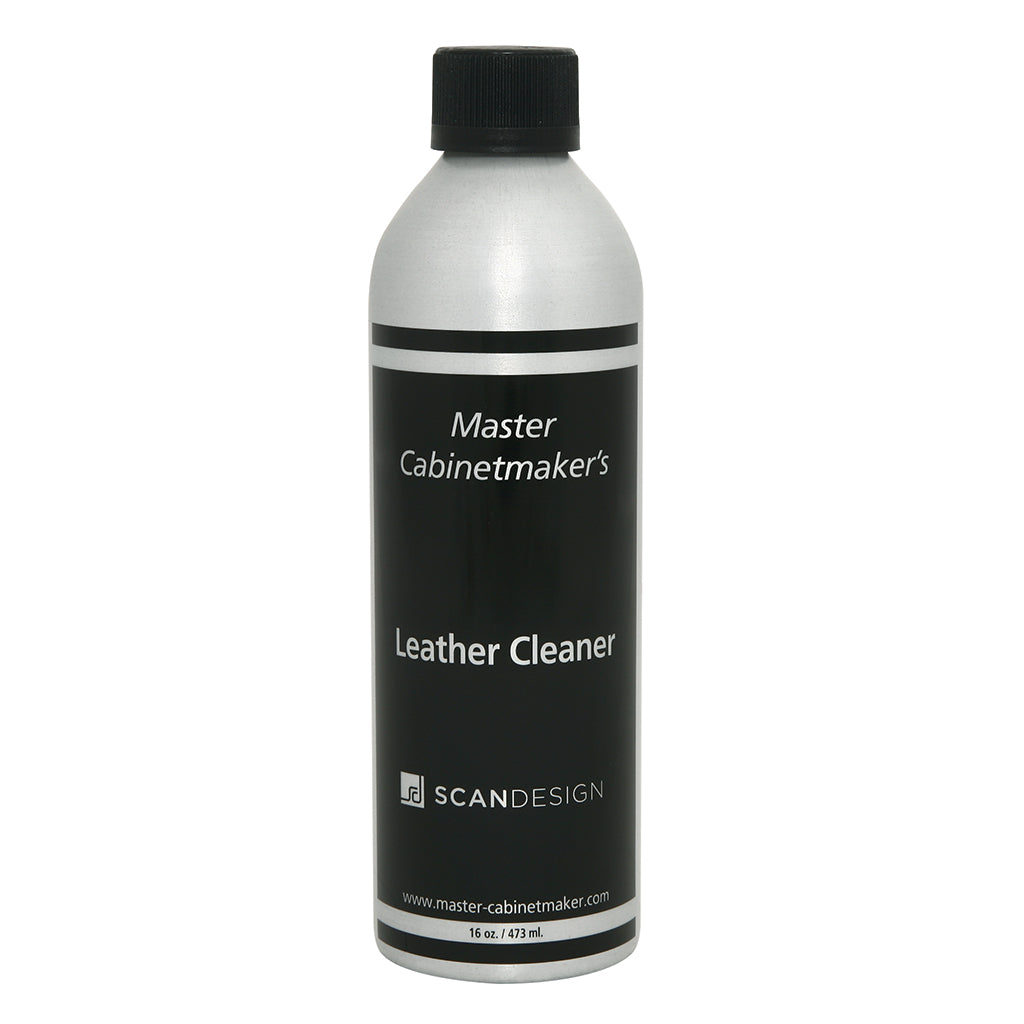 bottle of leather cleaner