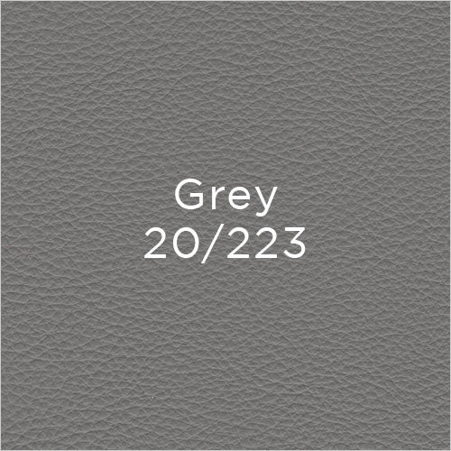 grey leather swatch