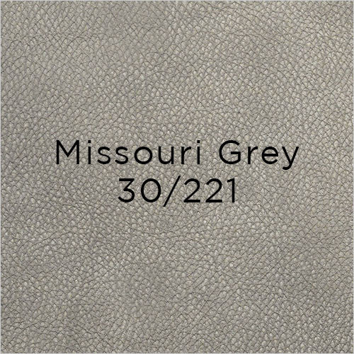 missouri grey nubuck leather swatch