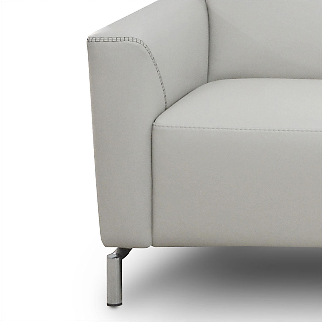 leather accent chair with metal legs