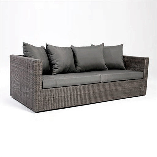 Meadow Outdoor Sofa Weave With Grey Or White Cushions