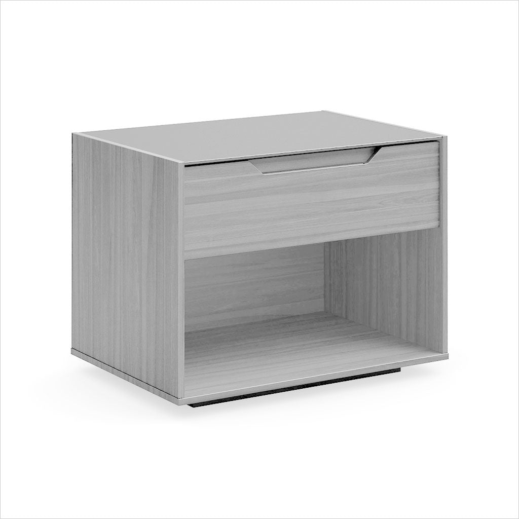 nightstand in light grey oak