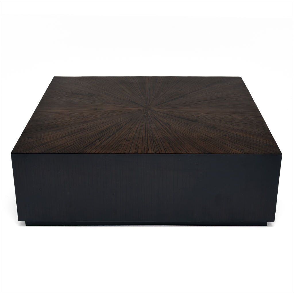 Monoblock Coffee Table Square Ebony Scan Design Modern And Contemporary Furniture Store