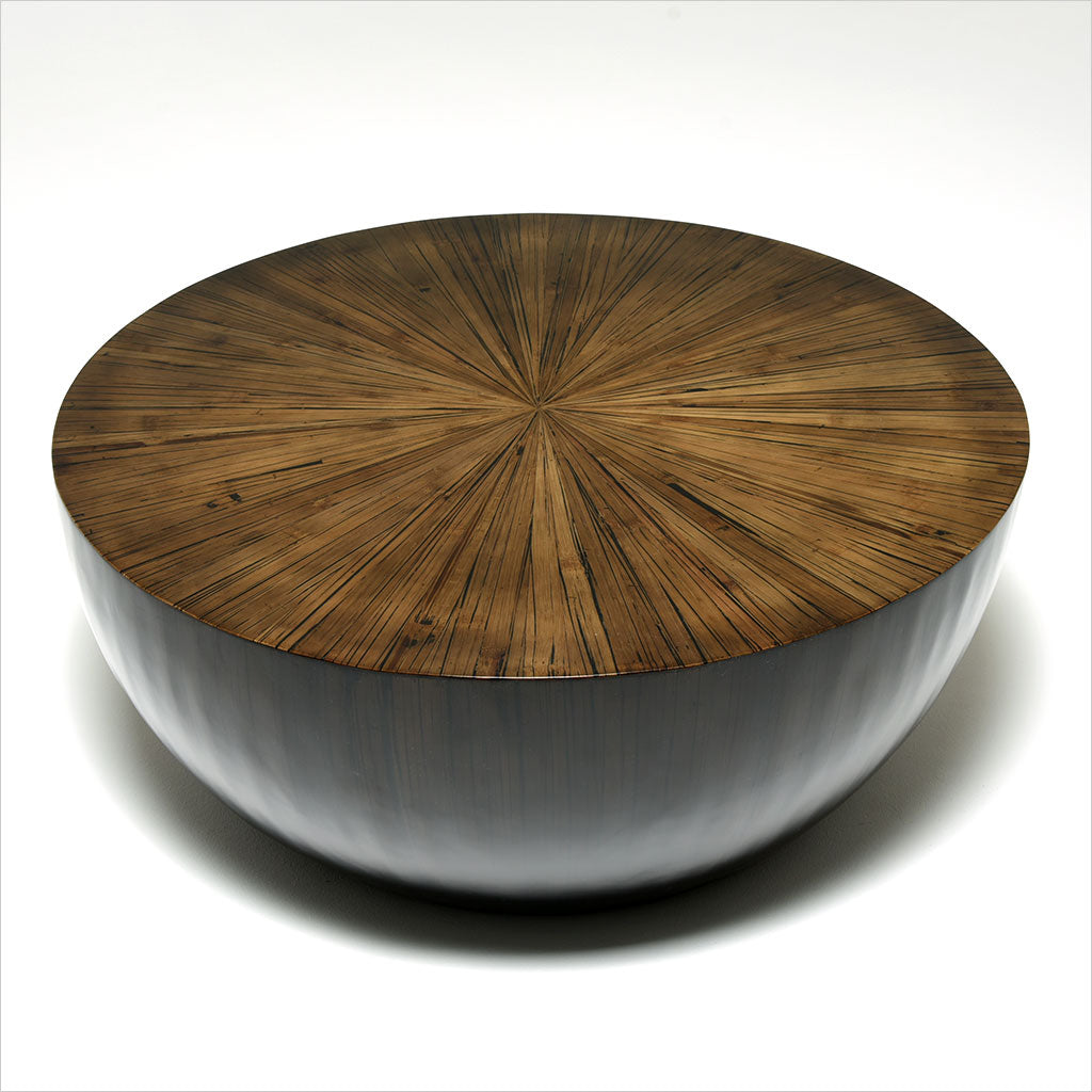 round bamboo coffee table