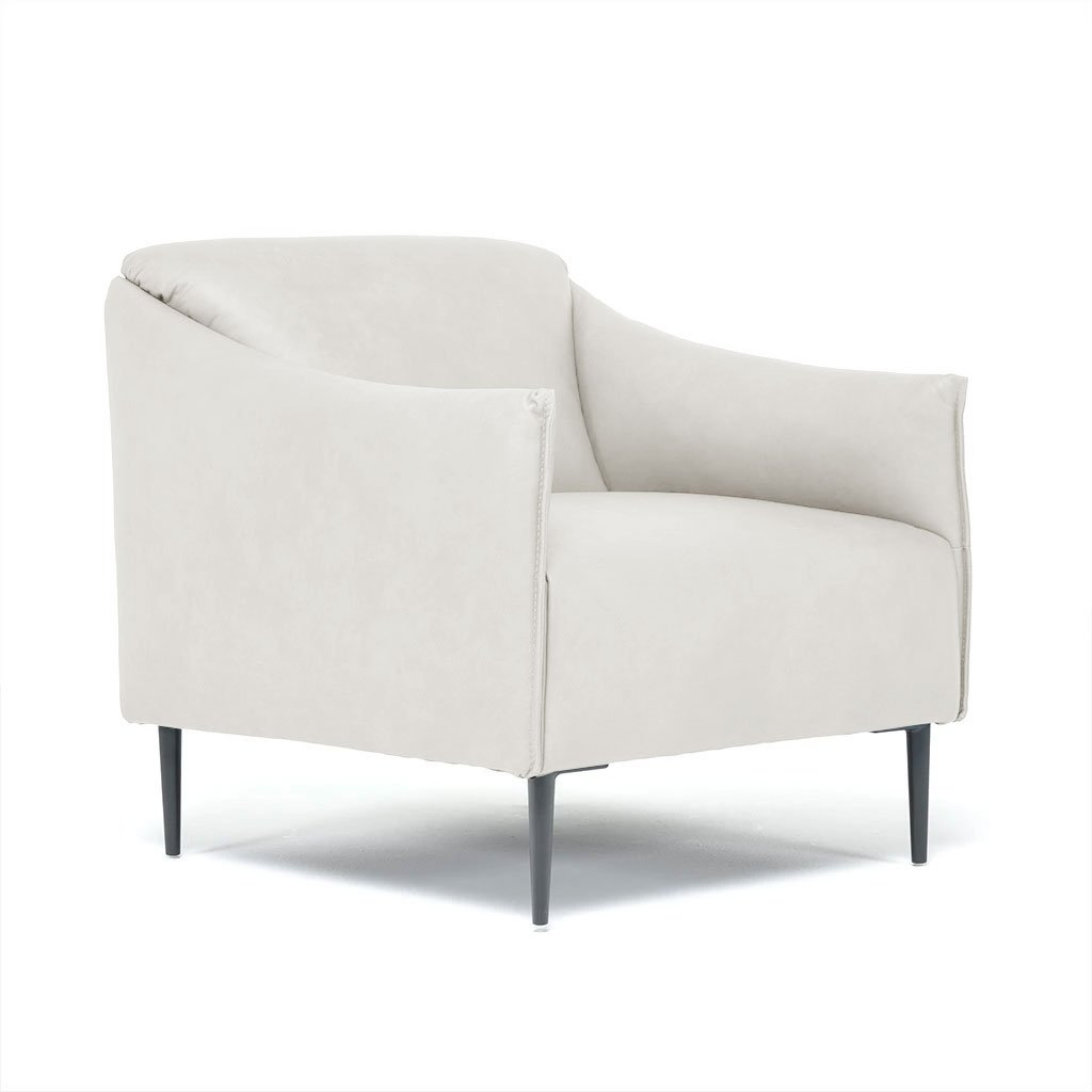leather accent chair with arms