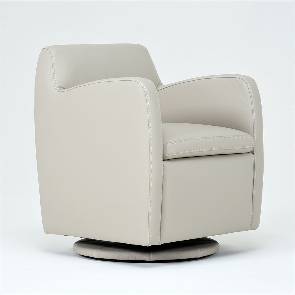 leather swivel glider chair