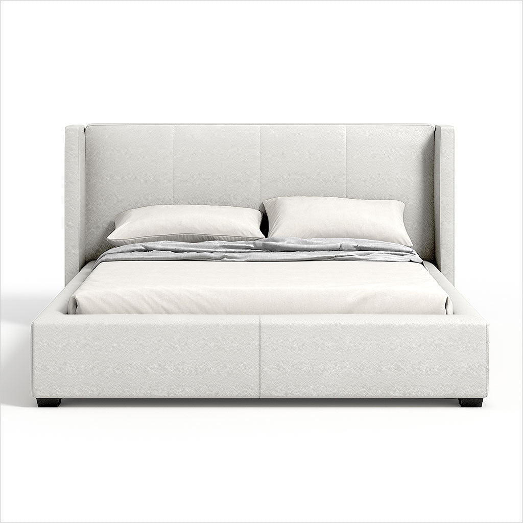 wingback platform bed