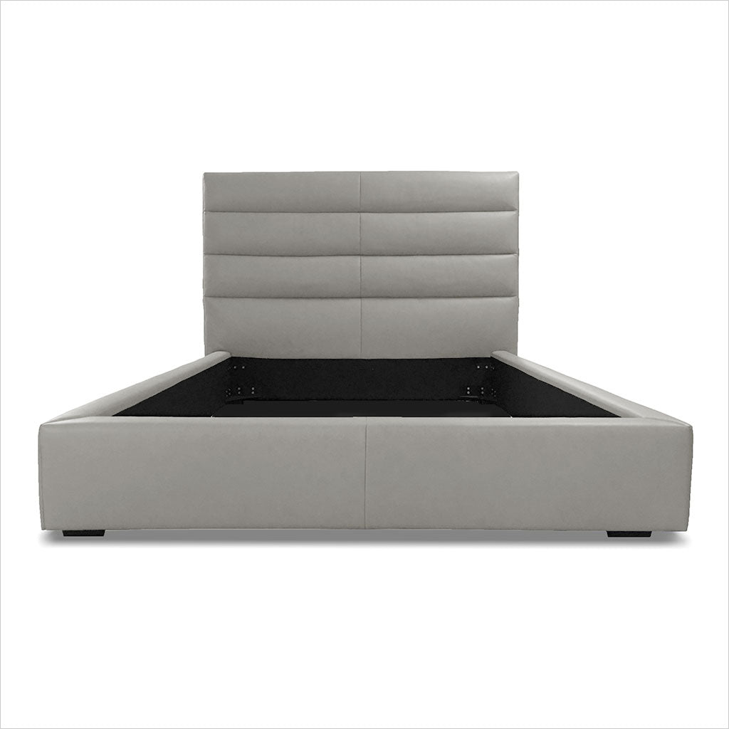 Abaco Leather Bed - Stone - Scan Design | Modern \ Contemporary