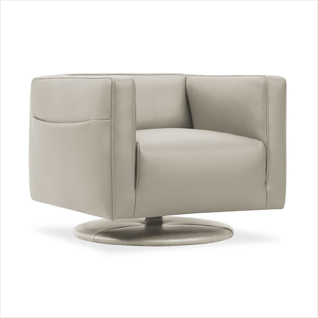 leather accent chair with swivel base