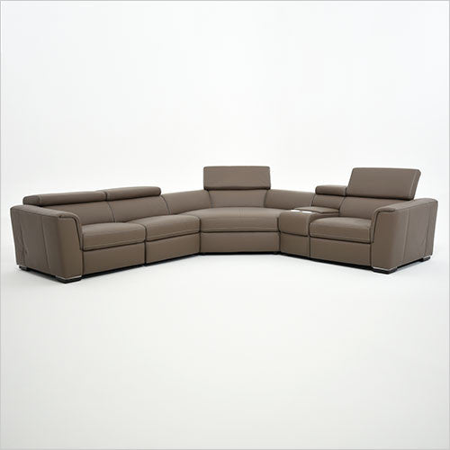 modular leather sectional