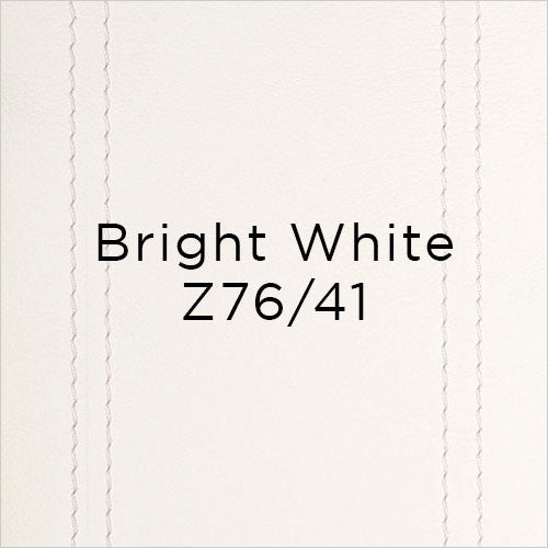 bright white leather swatch