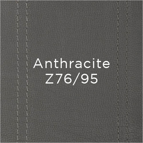 anthracite leather swatch