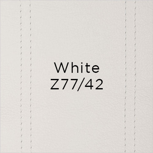 white leather swatch