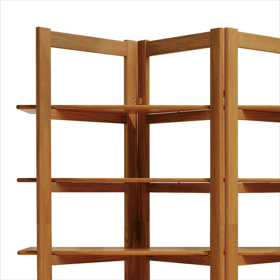 teak room divider bookcase