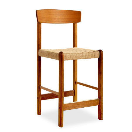 teak counter stool with rope seat