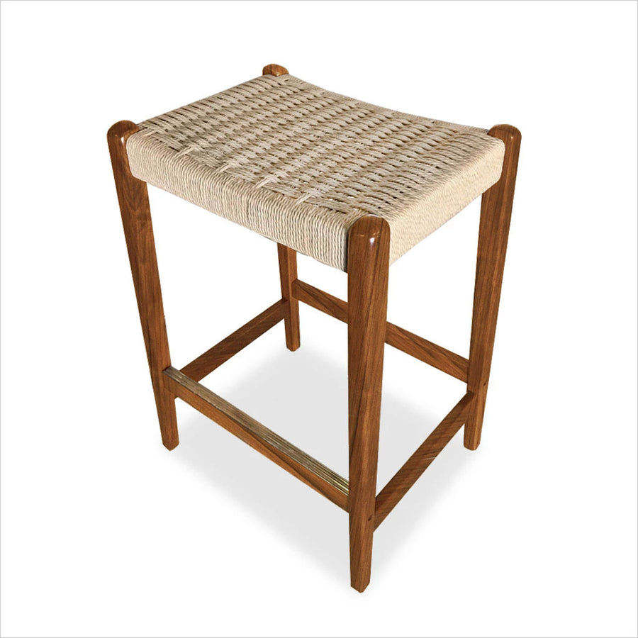 counter stool with rope seat