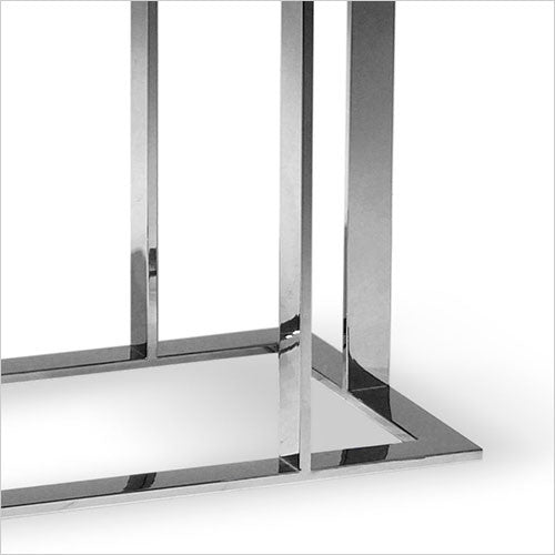 stainless steel accent table
