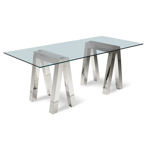 stainless steel bases for glass top dining table