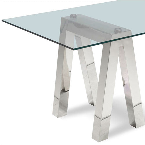 stainless steel base for glass top dining table