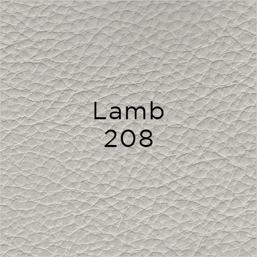lamb light grey leather swatch