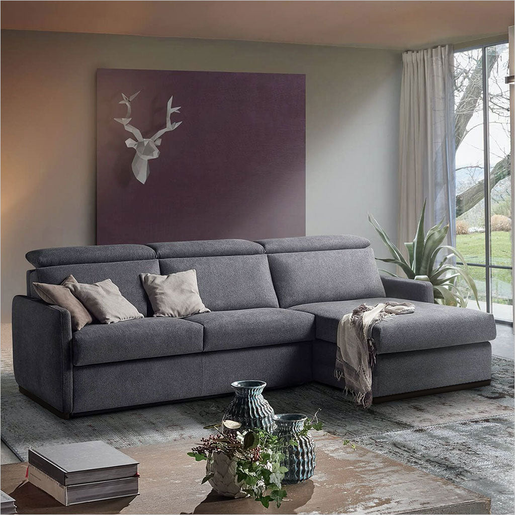 fabric sleeper sectional