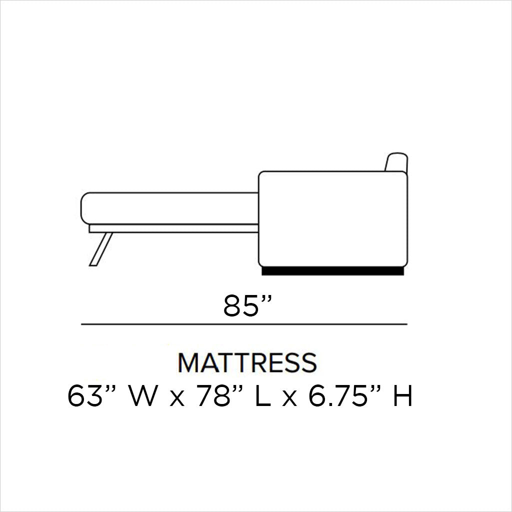 schematic of sleeper sofa