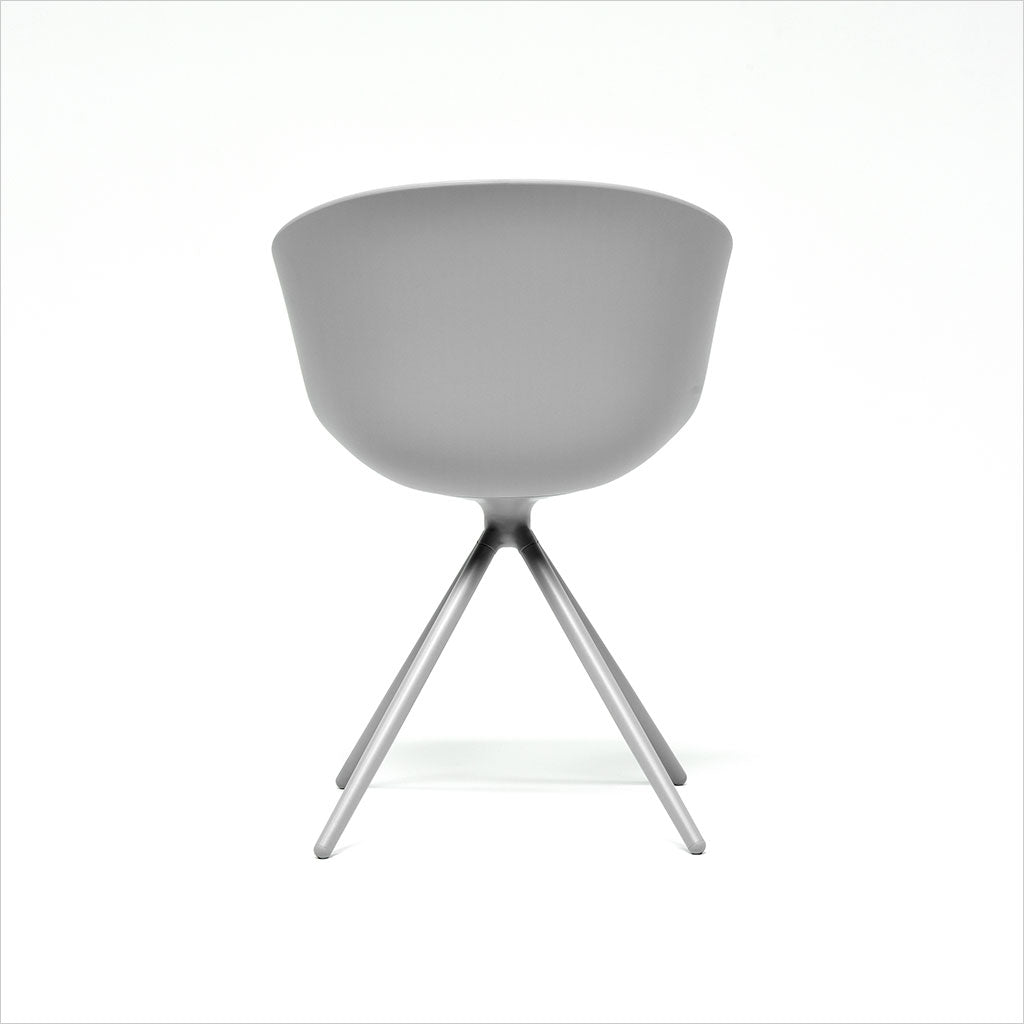 grey dining chair with molded seat