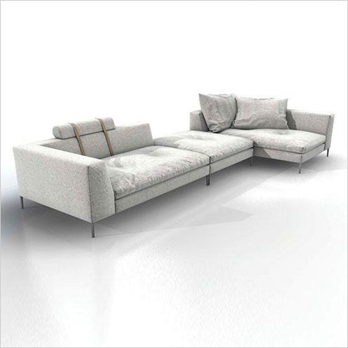 modular grey fabric sectional