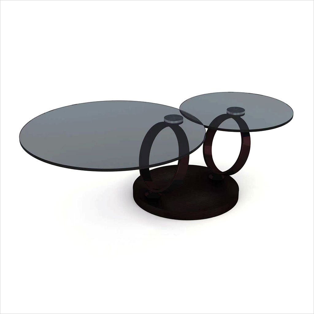 adjustable coffee table in black