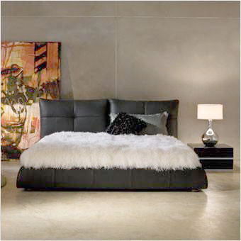 Lago Leather Bed Scan Design Modern Contemporary Furniture Store - Lago bed