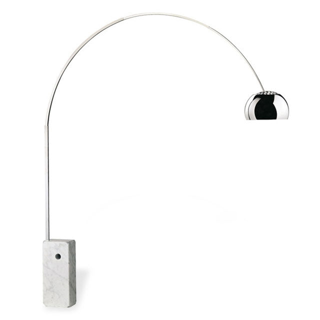 arch lamp with marble base
