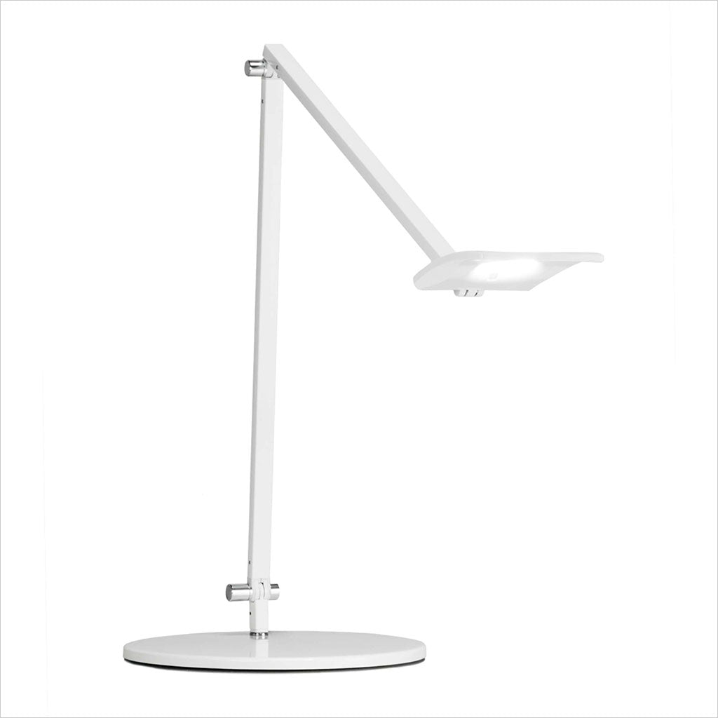 white desk lamp