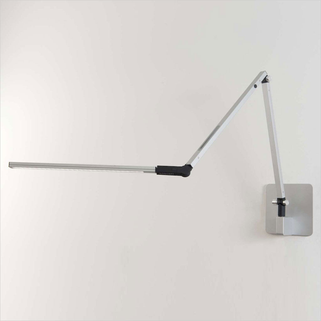 z-bar lamp mounted on wall