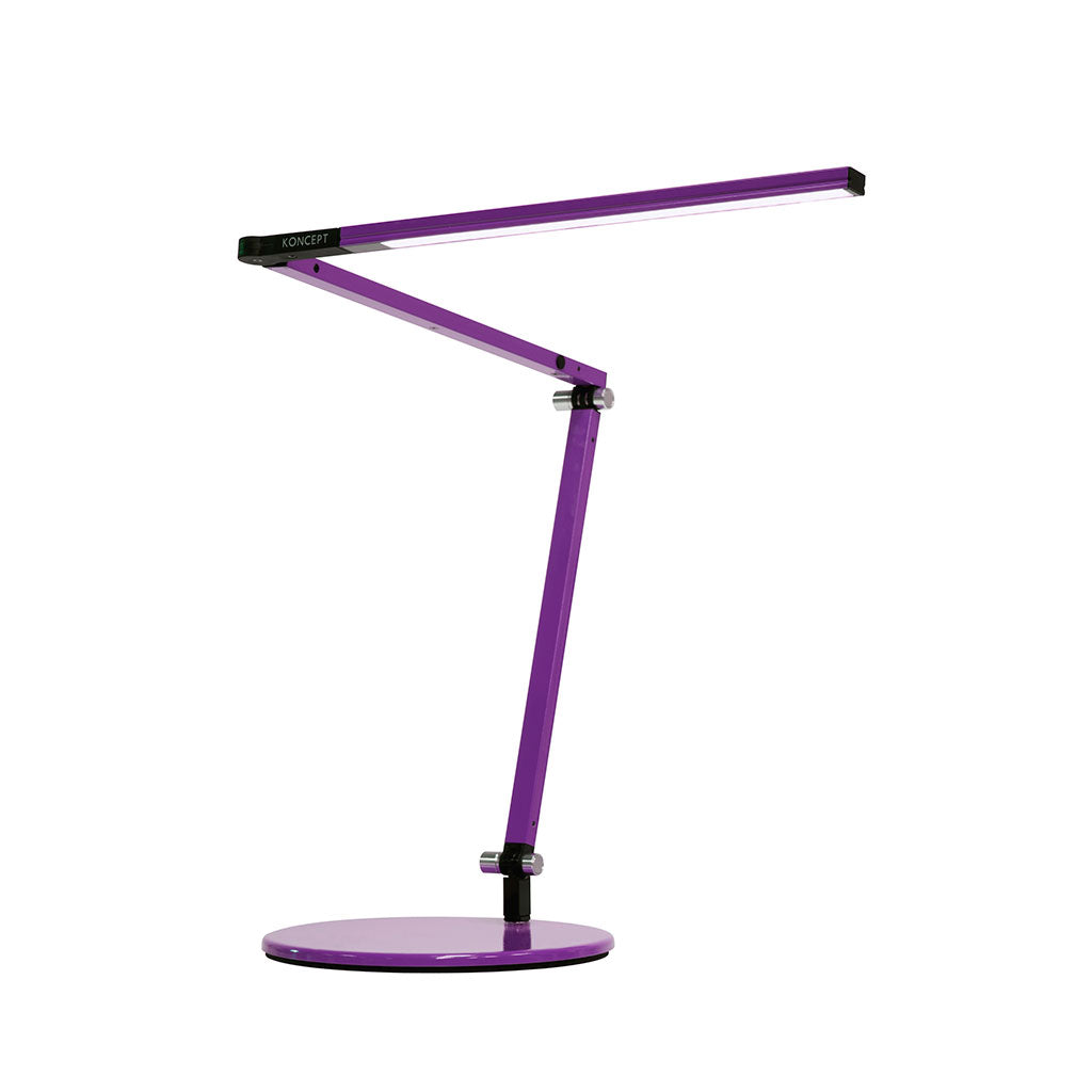 purple table lamp