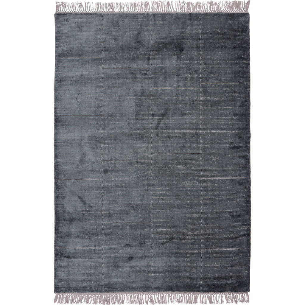 midnight loom-knotted area rug