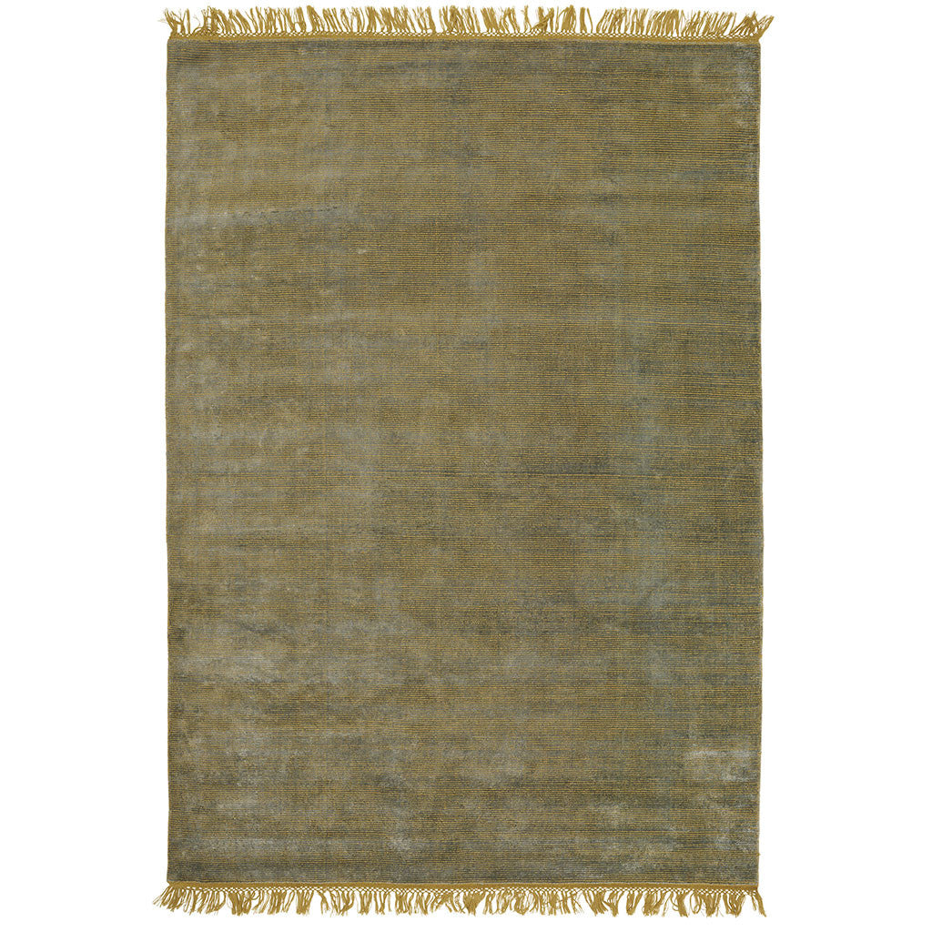 lime loom-knotted area rug