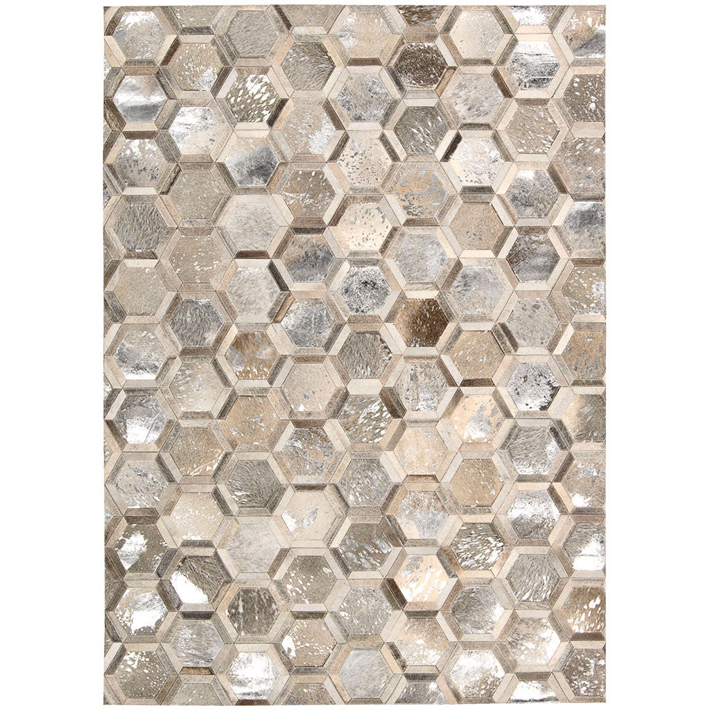 patterned leather area rug