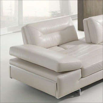 Stallone leather sectional with adjustable backs