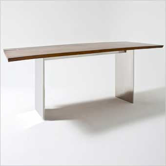 Skagen console table with suar wood top