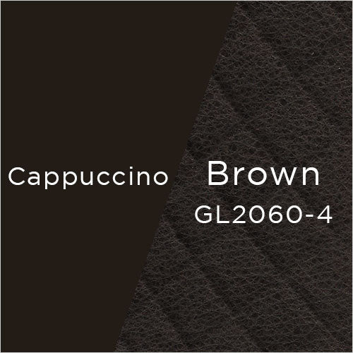 cappuccino powder-coat metal and vintage brown leather swatch